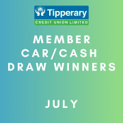 July Car/Cash Draw Winners
