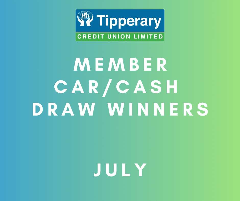 July Car/Cash Draw Winners